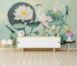 3d Lotus Leaf O595 Wallpaper Wall Mural Removable Self-adhesive Sticker Kids Amy