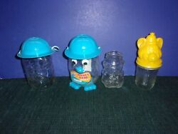 Glass Bear Bottles - Vintage And Collectible - Glass Santa Jar - Bank - Cup And Ml