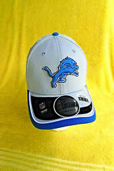 New W/stickers Nfl Detroit Lions New Era Fitted Med./lg. 39/thirty Team Cap/hat