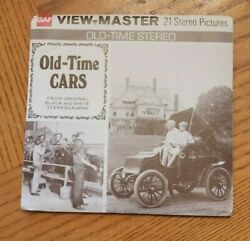 B795 Old-time Cars From Black And White Stereographs Viewmaster Reels Packet