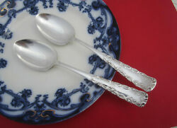 2 Antique 1847 Rogers Bros Portland Place / Oval Soup Spoons 7-1/8 Ca. 1891