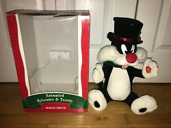 Sylvester And Tweety Bird Animated Christmas Musical Display Surprise Motionette