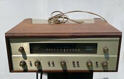 Fisher 500b Tube Receiver Brushed Gold With Mahogany Case