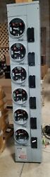 New Eaton 3mm612rrlc 6 Position 125a Meter Stack Box