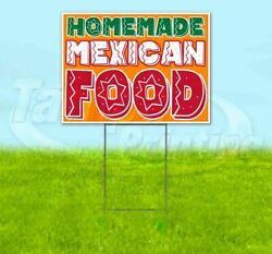 Homemade Mexican Food Yard Sign Corrugated Plastic Bandit Lawn Decoration Usa