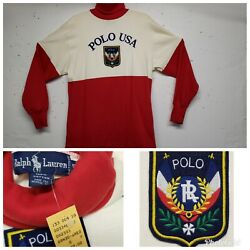 Nwt Vintage 80and039s Polo Uni Crest Ski Sweatshirt Sweater Turtleneck New With Tags