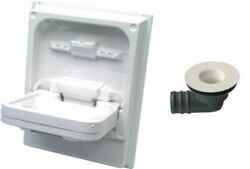 Cleo Tip Up Sink/basin. Foldaway White Pvc Basin. Complete With Waste Fitting