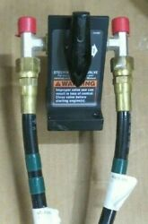 Yamaha By-pass Valve 6es-13340-00 W/ 2- Seastar Pro 5and039 Steering Hose And Fittings