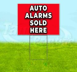 Auto Alarms Sold Here Yard Sign Corrugated Plastic Bandit Lawn Decoration