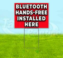 Bluetooth Hands-free Installed Here Yard Sign Corrugated Plastic Bandit Lawn