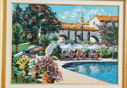 Kerry Hallam Montecito hand-signed enhanced serigraph on canvas Framed