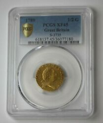 1789 Great Britain Guinea 1/2 Gold Coin S-3735 Pcgs Xf 45 88939jr