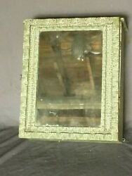Vtg Wood Surface Wall Mount Medicine Cabinet Cupboard Mirror Old 172-19e