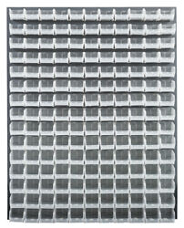 48w X 61h Gray Louvered Panel With Bins Clear 1 Ea