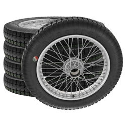 Mg Ta Wire Wheels And Tyres 2.5x19 48 Spokes 42mm Hub Tubed Silver By Mws Ww5771s