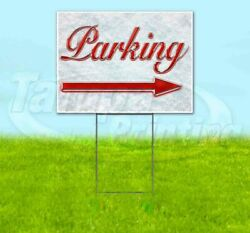 PARKING RIGHT ARROW Yard Sign Corrugated Plastic Bandit Lawn Decorations USA
