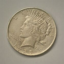 Unique Wavy Surface Pitting 1923 Us Peace Silver Dollar Coin Unc A-1215
