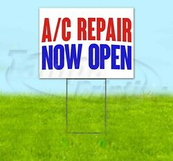 A/c Repair Now Open Yard Sign Corrugated Plastic Bandit Lawn Decorations Usa
