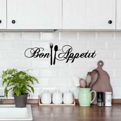 Letter Pattern Kitchen Wall Sticker Removable PVC Art Decals Door Home Decor