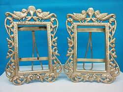 Pair Of Antique Sterling Silver 900 Coin Silver Picture Frames
