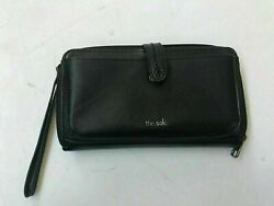 THE SAK GENUINE LEATHER 3-IN-1 PHONE WALLET WRISTLET (PRE-OWNED)