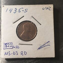 1935-s 1 Cent United States Must See No Reserve Coin 655
