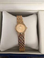 Concord 14Kt Yellow Gold Ladies Watch Beautiful! Diamond Bezel Swiss Movement