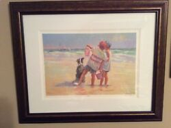 Lucelle Raad Sea Dogs Serigraph On Paper, Framed, Coa, Numbered, Signed