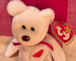 Valentino Ty Beanie Baby Brown Nose, Mismatch And Tag Errors, Right Ear Sewn High