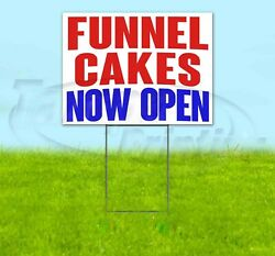 Funnel Cakes Now Open Yard Sign Corrugated Plastic Bandit Lawn Decorations
