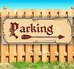 PARKING RIGHT ARROW Advertising Vinyl Banner Flag Sign Many Sizes MEDIEVAL