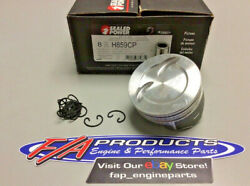 Sealed Power H859cp Small Block Chevy 383 Stroker 5.7 Rod Dish Piston Set Of 8