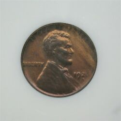 1926-d Us Lincoln Wheat Cent Coin Ms+++ Red Brown Condition Weak Strike A-1235