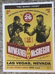 Mayweather Vs Mcgregor Exclusive Official Poster 250 Limited Edition August 26th