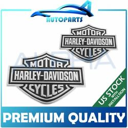 Iron Bike Emblem For Harley Davidson Style Sticker Metal Badge 2pcs set in US