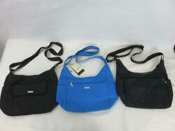 A Lot of 3 BAGGALLINI Nylon quot;Hoboquot; BAGS Blue Voyage NWT Black Cargo NICE $29.99