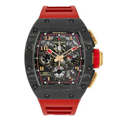 Richard Mille RM011 Romain Grosjean NTPT Carbon Chronograph 50MM Watch RM011