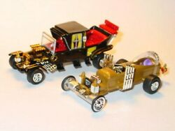 Munsters Koach And Dragula Car Set Collectible Tv Family And Coffin Cars -gold/black