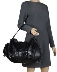 VALENTINO Limited Edition Python Leather Oversized Bag