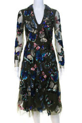 Valentino Fall 2014 Green Tulle Sequin Butterfly Dress Size 2 NEW $22000