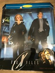 Barbie And Ken The X-files Gift Set Collectors Edition Scully Mulder 1998 New