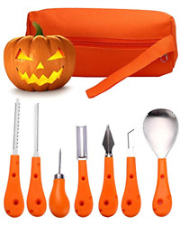 7 Piece Halloween Pumpkin Carving Kit for kids Pumpkin Carving Tools Stainles...