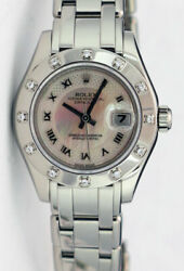 Rolex Lady Pearlmaster Gold Decorated Mother of Pearl 80319 Rehaut - WATCH CHEST