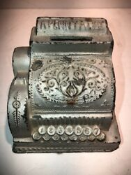 Nice Vintage A Penny A Day Cash Register Bank Circa 1930's