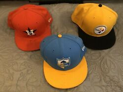 3-nfl Pittsburgh Steelers Andchargersmlb Houston Astrosnew Era 9fifty Hats Caps