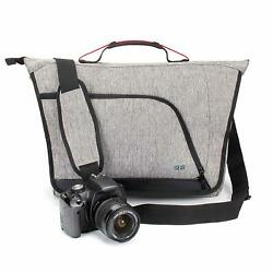 Messenger Camera Bag w Customizable Dividers and Weather Resistant Bottom NEW $31.99