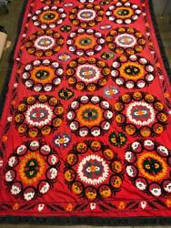 Uzbek Embroidery Suzani Wall Hanging Textile 12and0394 X 6and03911
