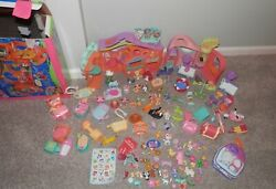 Littlest pet shop LOT 137 pieces pets accessories dog daycare funhouse