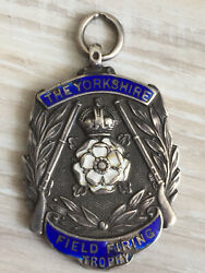 England Badge 1934 Medal Yorkshire Field Firing Trophy Smithson Priginal Order