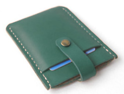 men women wallet cow Leather Card ID driver license Holder bag case green S156 $4.80